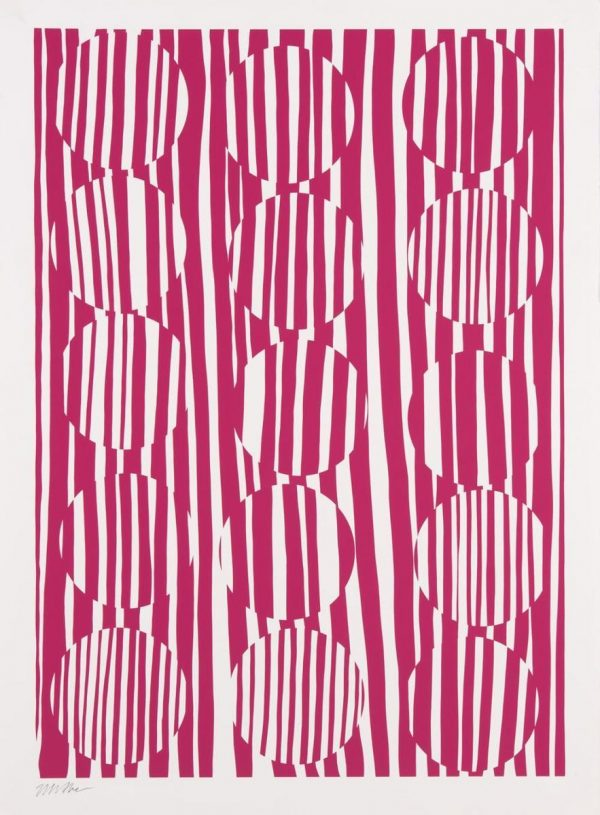 Untitled (Abstract Circles In Pink)