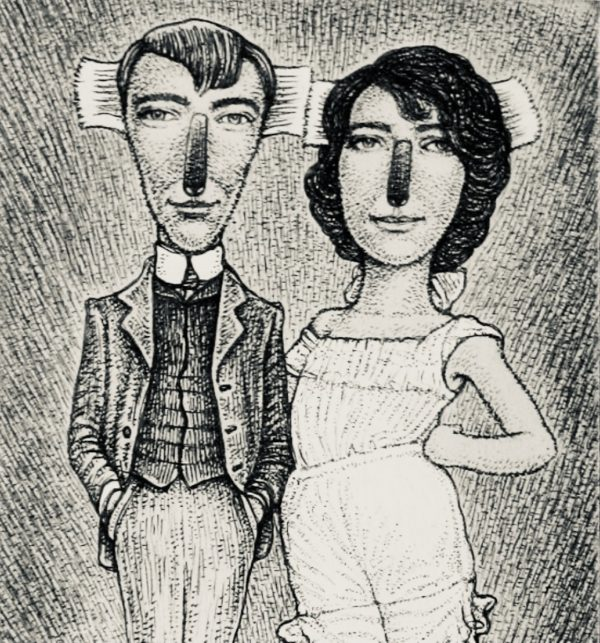 The Artist and the Printmaker (Norman and Rose Lindsay 1905)